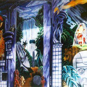 <b>Guillermo Aranda</b> <i>Source of Life/Mural</i>, acrylics, 12 ft  x 14 ft, 1994