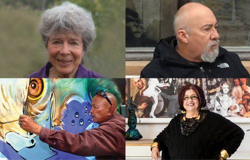 Califas Legacy artists Carmen Leon, Ralph D'Oliveira, Guillermo Aranda and Amalia Mesa-Bains